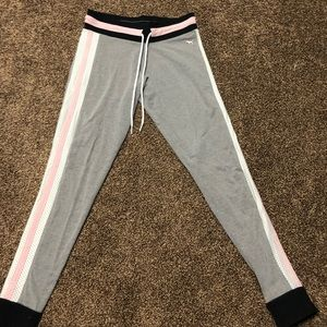 pink gray and white leggings from pink